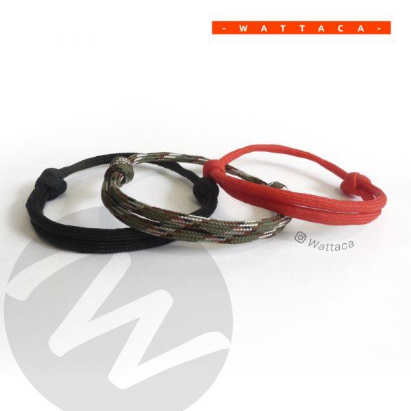 Pack Urb Minimalista Negro-Camuflado-Rojo Wattaca