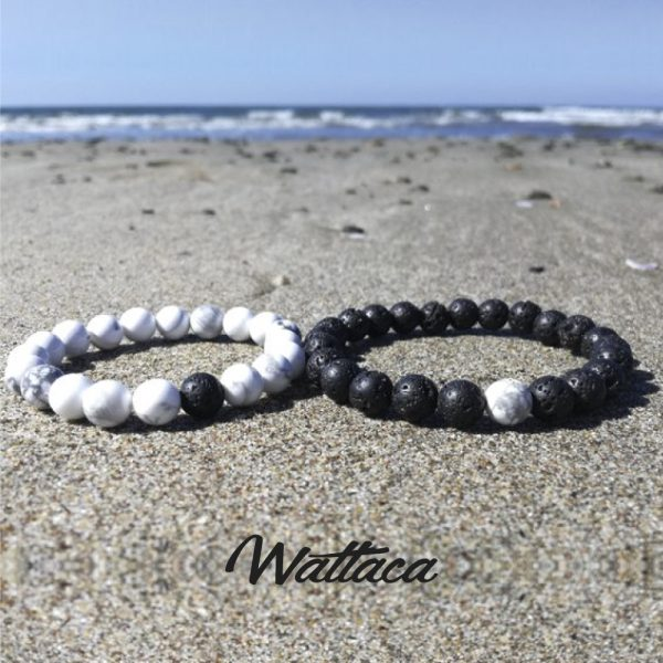Pack para Parejas Distancia Piedras Volcánica/Howlita Wattaca