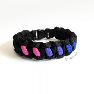 Pulsera Cobra Black Pride Bisexual LGBT