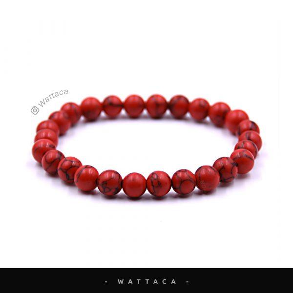 Pulsera Masculina Howlita Red
