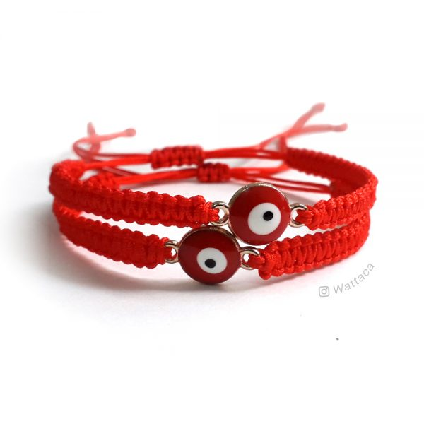 Pack Pulseras Ojo Turco Red