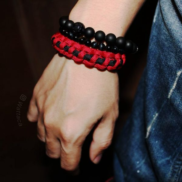 Pulsera Paracord CobraLineal Red