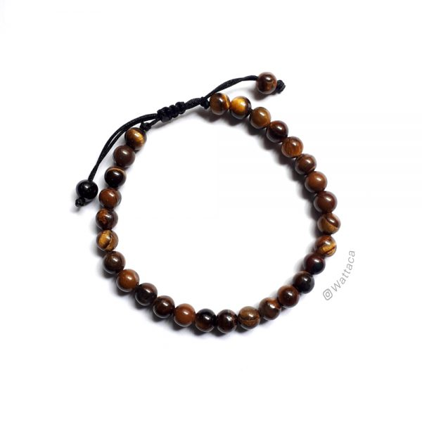 Pulsera Ojo de Tigre 6mm Ajustable