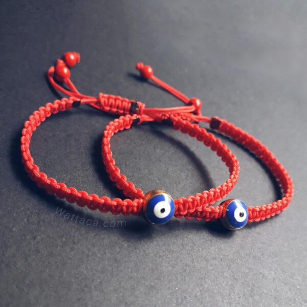 Pulseras Rojas Ojo Turco Azul en peru