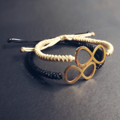 Pack Pulseras Infinitos Golden BlackBeige Snake