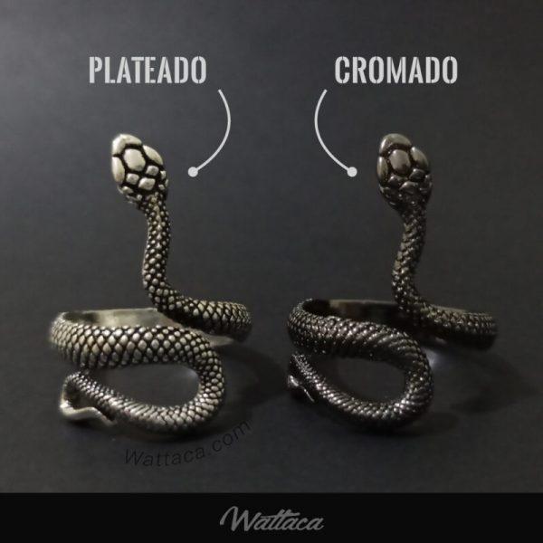 Anillo Serpiente Plateada para hombres en peru
