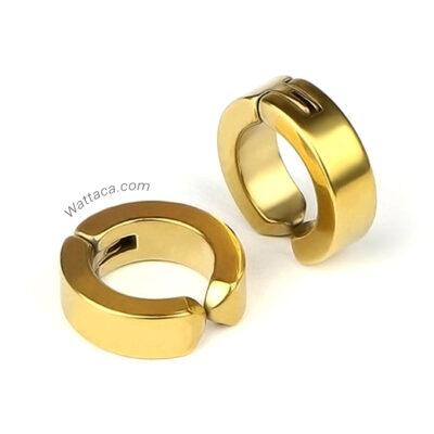 Par de Aretes a presión Gold Acero