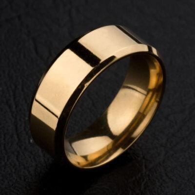 Anillo Essential Gold Acero