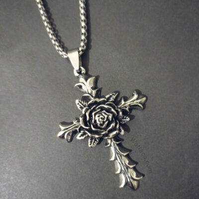 Collar Rose Cross