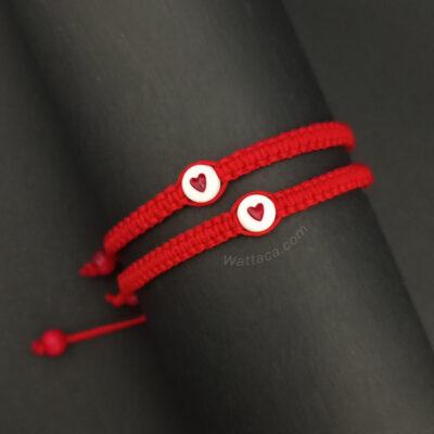 Pack Pulseras rojas para parejas, Corazón