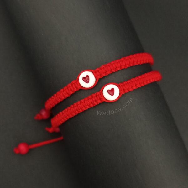 Pulseras Rojas para parejas Corazones en Lima