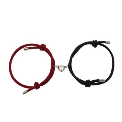 Pack para parejas Corazón Unido Vinotinto/Negro(Imantadas)